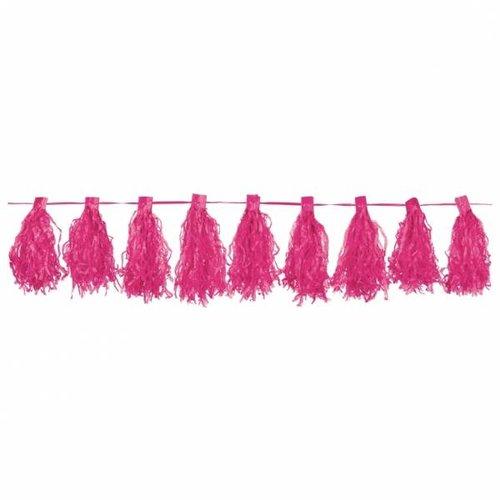 Luxe tassel slinger, roze