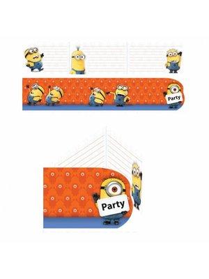 Minions uitnodigingen 6 stuks (orange) 2 setjes
