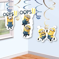 Minions / despicable Me slingers (hang) in kleur geel, wit en blauwe