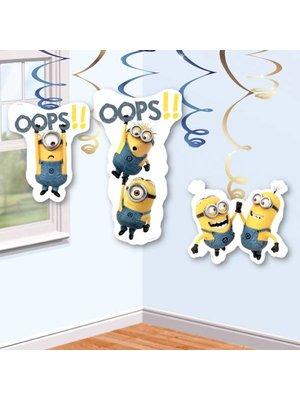 Minions / despicable Me slingers (hang) in kleur geel, wit en blauwe