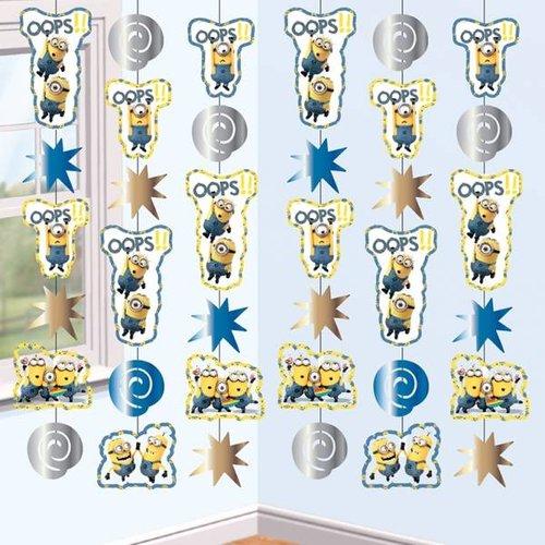 Minions / despicable Me lange hangslinger / decoratie 6x 2m lang