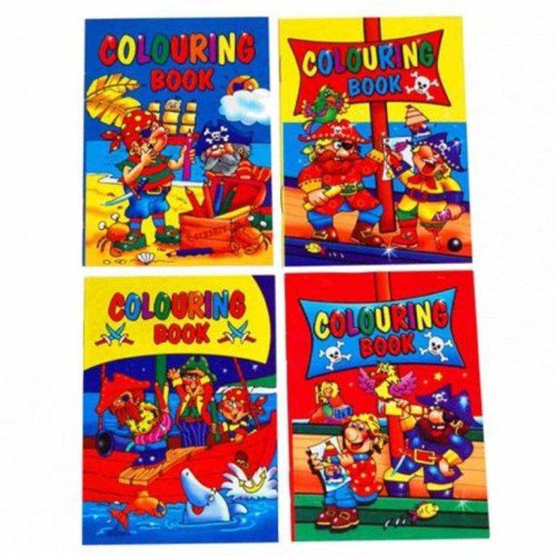 12x uitdeel kleurboekjes piraten (uitdeelcadeautjes)