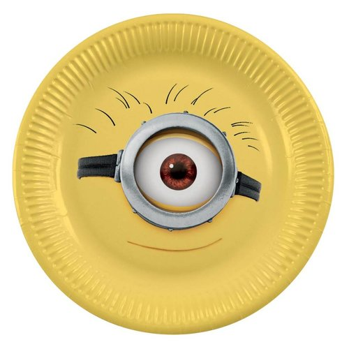 Minions / despicable Me borden (geel met afbeelding hoofd Minion)