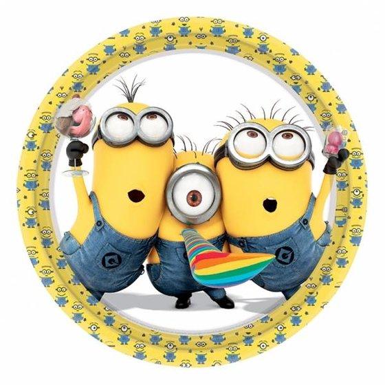 Minions feestartikelen gele rand serie