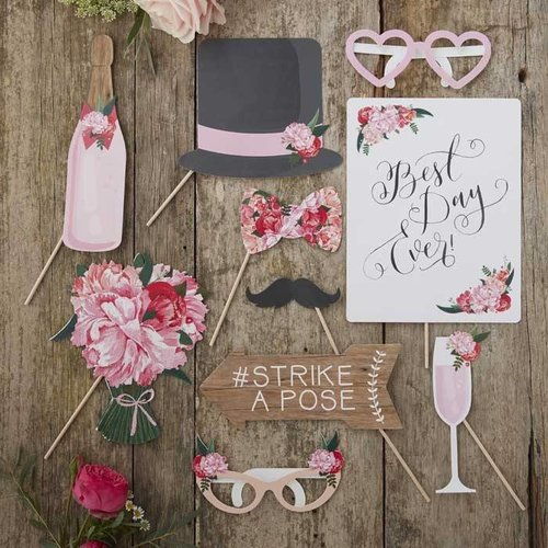 Photo booth props bruiloft