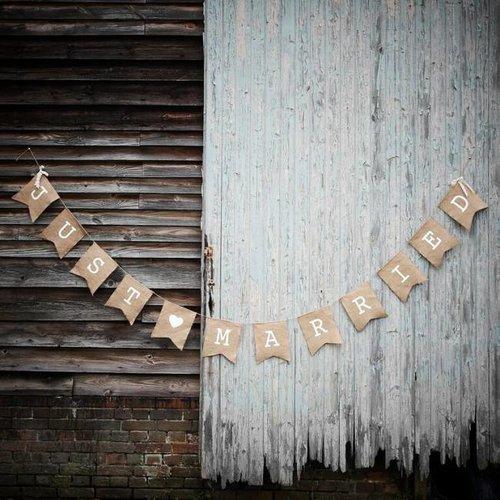 Versiering bruiloft vintage slinger