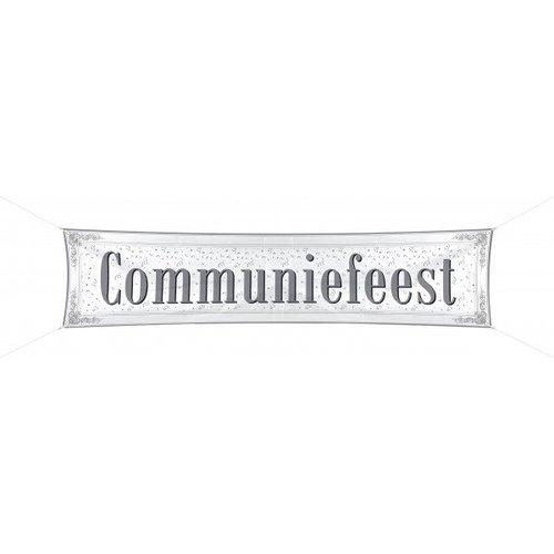 Communie versiering spandoek, tekst: communiefeest