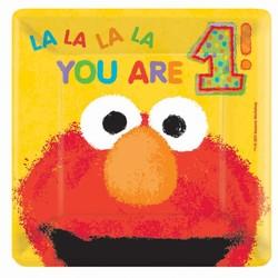 Elmo 1 jaar borden 18x (groot)