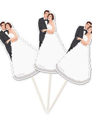 Trouwen catering: prikkers bruidspaar