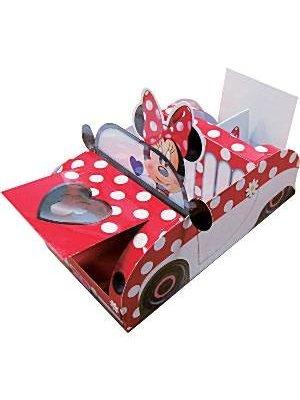 Minnie Mouse versiering voedselschaaltje in de vorm van een auto