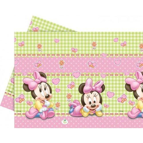 Minnie mouse 1e verjaardag tafelkleed