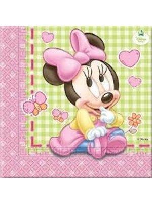 Minnie Mouse 1e verjaardag servetten