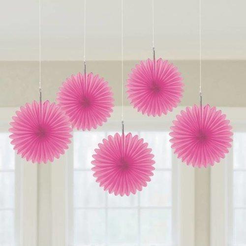 Decoratie waaier roze (klein)