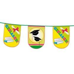 Hoera geslaagd versiering, vlaggenlijn