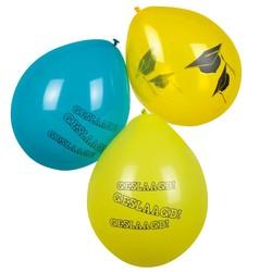 hoera geslaagd versiering, ballonnen (geel & groen)