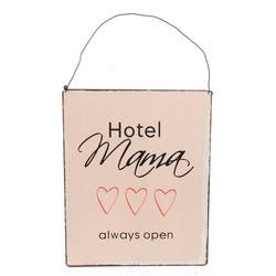 Metalen wandplaat hotel mama