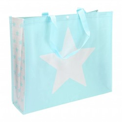 Shopper ster turquoise