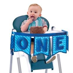 Hoera 1 jaar luxe kinderstoel versiering jongen