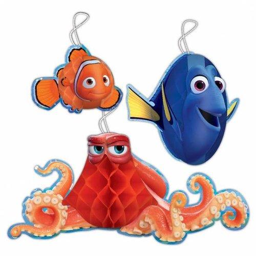 Finding Dory / Nemo versiering honeycomb ballen