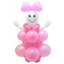 Geboorte ballon decoratie meisje (ballon pakket)