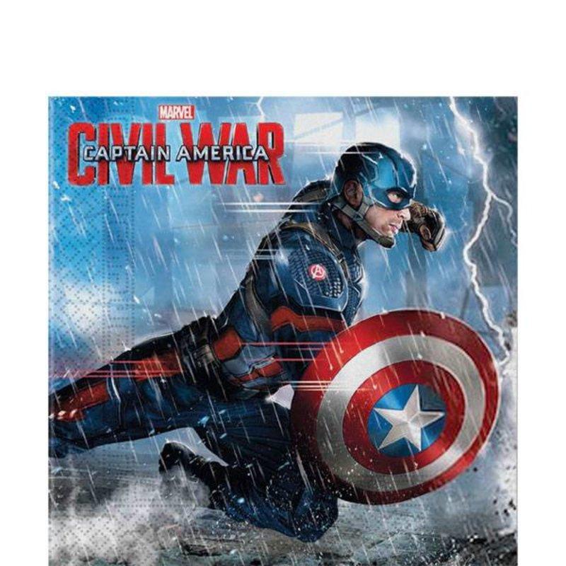 Captain America Civil War feestartikelen: servetten 20 stuks