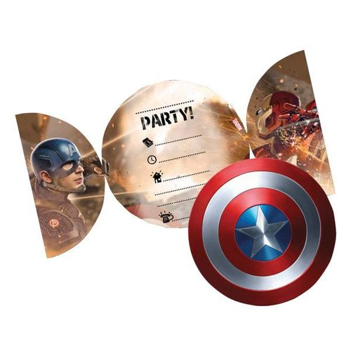 Captain America Civil War uitnodigingen