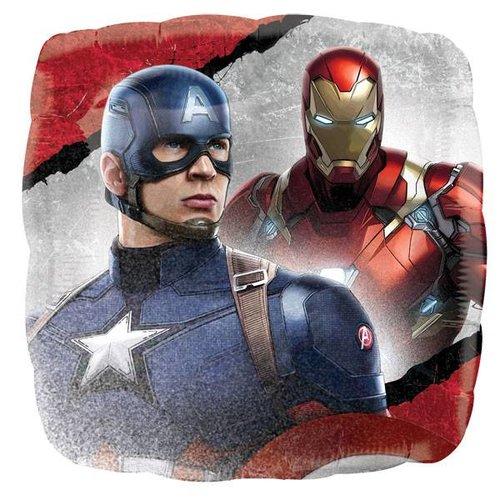 Captain America Civil War ballon vierkant (voor lucht en helium)