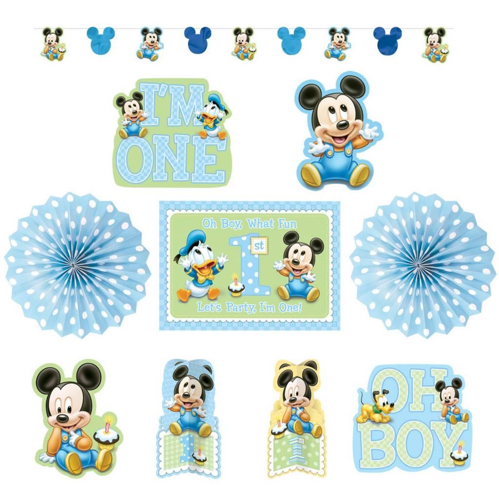 Baby mickey mouse 1 jaar kamer versiering feestpakket decoratie makkelijkfeestje - Kamer decoratie jongen jaar ...