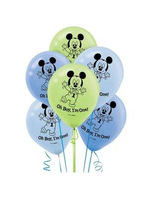 baby Mickey Mouse 1 jaar ballonnen (15 ballonnen)