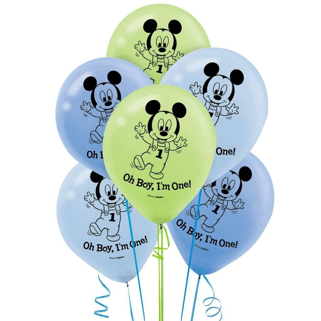Mickey Mouse 1ste Verjaardag Versiering Octopuss
