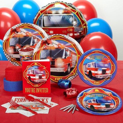 Brandweer feestartikelen compleet feestpakket 8 personen