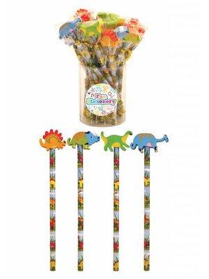 Uitdeelcadeautjes: Dinosaurus potloden (12 stuks)