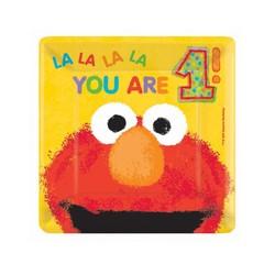 Elmo vierkante gebaksborden 1 jaar.