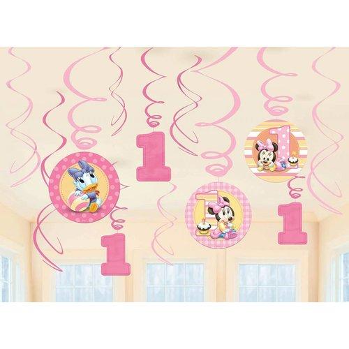 Minnie mouse hangdecoratie (12 stuks)