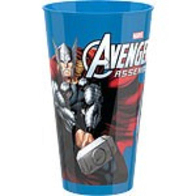 Avengers plastic beker, per stuk