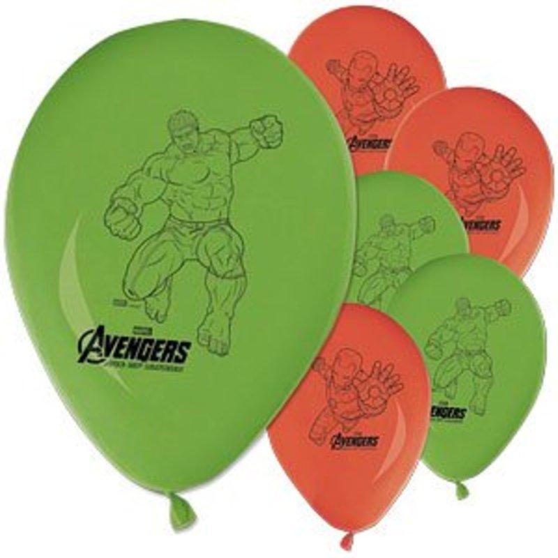 Avengers Age Of Ultron ballonnen rood groen