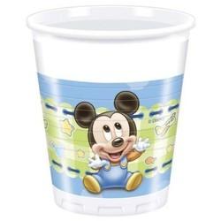 Mickey mouse 1e verjaardag bekers