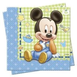 Mickey Mouse 1e verjaardag servetten