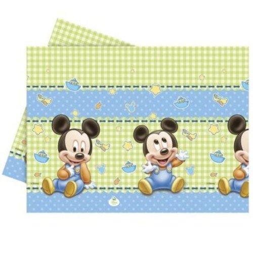 Mickey mouse 1e verjaardag tafelkleed