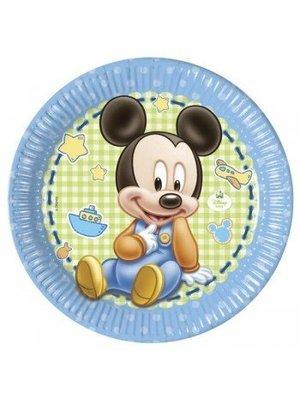 Mickey mouse 1e verjaardag borden