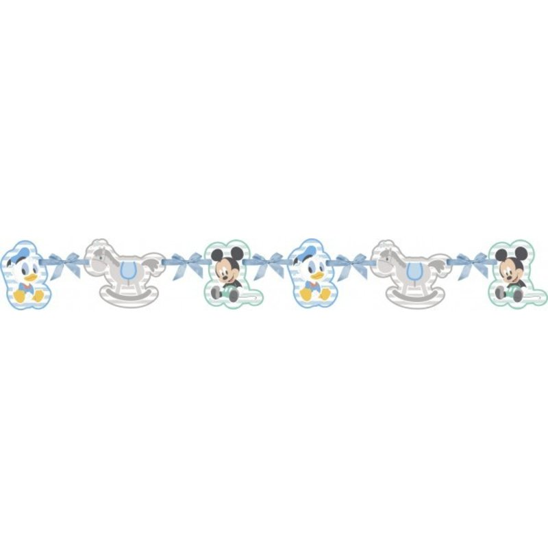 baby Mickey Mouse feestartikelen: slinger