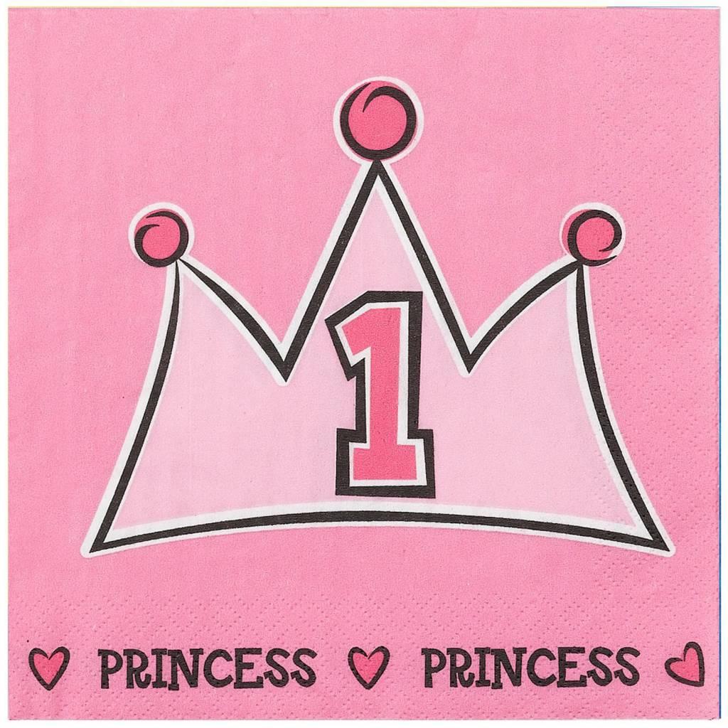 1 jaar prinses servetten 1 jaar   Makkelijkfeestje: Feest & Kado 1 jaar