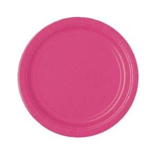 Bord 23 cm 16 stuks knal roze