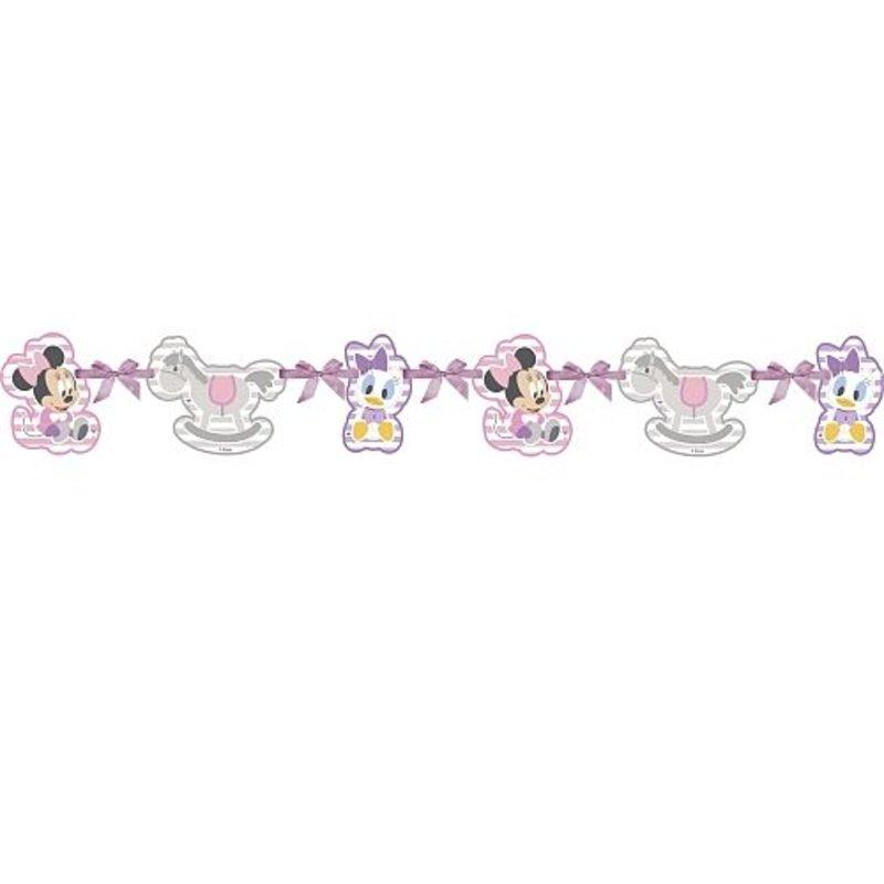 baby Minnie Mouse feestartikelen: slinger