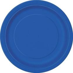 Groot bord, blauw, 21,9 .cm, . 16 stuks