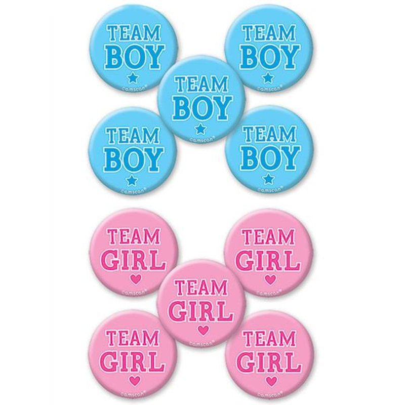 10 gender reveal buttons (boy or girl?)
