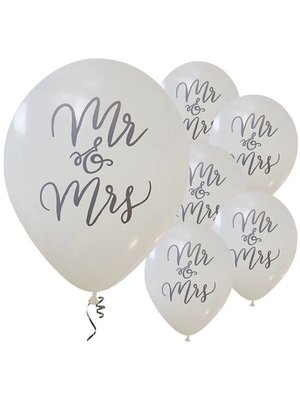 bruiloft ballonnen mr & mrs