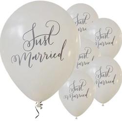 bruiloft ballonnen just married