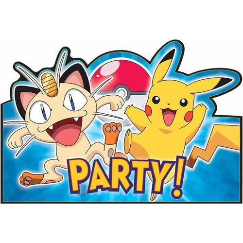 Pokemon feestartikelen uitnodigingen