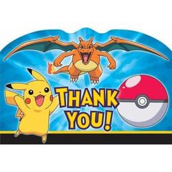 pokemon feestartikelen bedankkaartjes